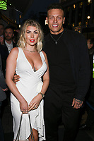 Olivia Buckland &amp; Alex Bowen arriving for James Ingham's Jog on to Cancer 2018 at Cafe de Paris, London, UK. <br /> 04 April  2018<br /> Picture: Steve Vas/Featureflash/SilverHub 0208 004 5359 sales@silverhubmedia.com
