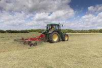 22.5.2020 Contractors turning haylage <br /> ©Tim Scrivener Photographer 07850 303986<br />      ....Covering Agriculture In The UK....