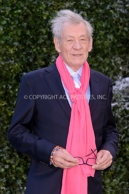 www.acepixs.com<br /> <br /> February 23 2017, London<br /> <br /> Sir Ian McKellen arriving at the UK launch event for 'Beauty And The Beast' at Spencer House on February 23, 2017 in London, England<br /> <br /> By Line: Famous/ACE Pictures<br /> <br /> <br /> ACE Pictures Inc<br /> Tel: 6467670430<br /> Email: info@acepixs.com<br /> www.acepixs.com