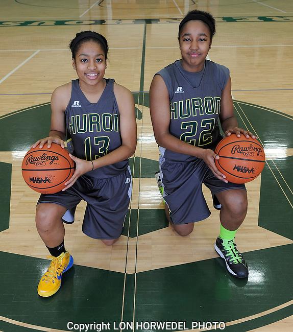 2014-15 Huron High School girl's varsity basketball team.