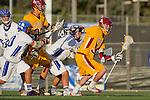 Rancho Santa Margarita, CA 04/30/10 - Corey Black (Torrey Pines #34) and Scott Jacobi (Torrey Pines #28) in action during the Rancho Santa Margarita CHS-Torrey Pines boys varsity lacrosse game.