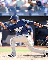 Luis Durango. San Diego Padres spring training game vs. Seattle Mariners at Peoria Stadium, Peoria, AZ - 03/04/2010.Photo by:  Bill Mitchell/Four Seam Images.