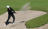 Bjorn Akesson (SWE) thins the ball from the bunker on the 8th during Round Two of the 2015 Nordea Masters at the PGA Sweden National, Bara, Malmo, Sweden. 05/06/2015. Picture David Lloyd | www.golffile.ie