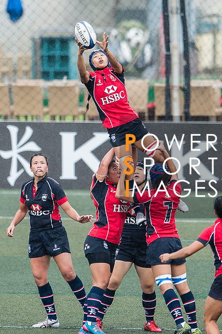 Cheng Ching To of Lions (C) in action during the Women's National Super Series 2017 on 13 May 2017, in Hong Kong Football Club, Hong Kong, China. Photo by Marcio Rodrigo Machado / Power Sport Images
