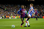 Nelson Semedo of FC Barcelona (L) in action against David Zurutuza Veillet of Real Sociedad (R) during the La Liga match between Barcelona and Real Sociedad at Camp Nou on May 20, 2018 in Barcelona, Spain. Photo by Vicens Gimenez / Power Sport Images