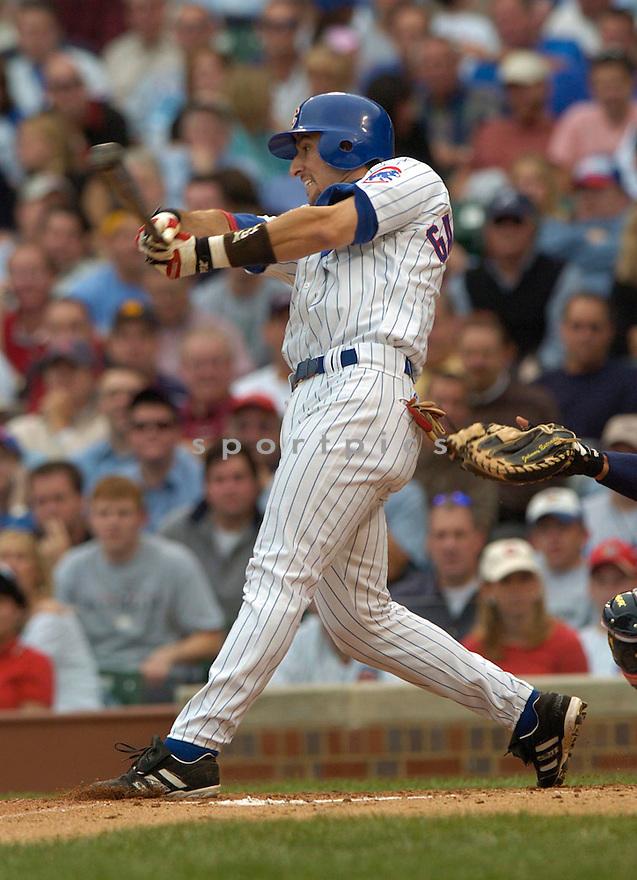 Nomar Garciaparra during a Chicago Cubs game 2004...David Durochik / SportPics
