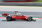 22.04.2012 Barcelona, Spain. GP Masters. Pictures show driver Giancarlo Casoli ITA with Ferrari 312T at Circuit Catalunya