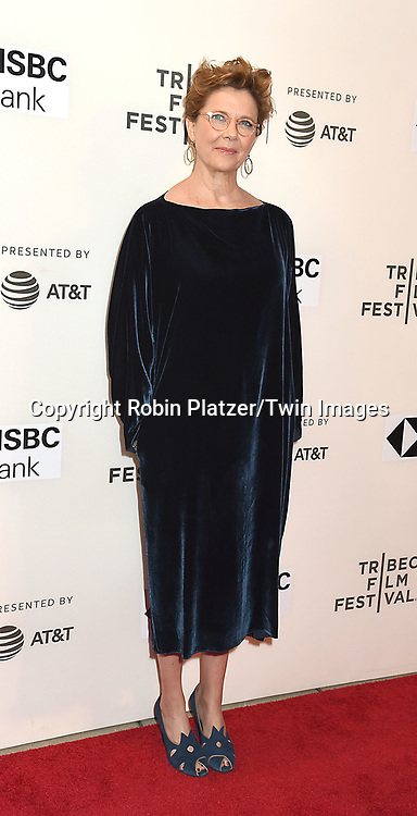 """Annette Bening attends """"The Seagull"""" Screening at the Tribecca Film Festival at BMCC on April 21, 2018 in New York City, New York, USA.<br /> <br /> photo by Robin Platzer/Twin Images<br />  <br /> phone number 212-935-0770"""