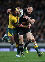Ben Smith in action during the Bledisloe Cup and Rugby Championship rugby match between the New Zealand All Blacks and Australia Wallabies at Eden Park in Auckland, New Zealand on Saturday, 25 August 2018. Photo: Simon Watts / lintottphoto.co.nz