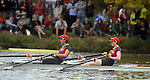 (Cambridge Ma 101913)  People line the shore of the Charles River during the 2013 Head of the Charles Regatta, Saturday on the Charles River in Cambridge. (Jim Michaud Photo) For Sunday