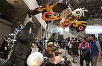 February 19, 2017, Chiba, Japan - Figuress of Godzilla and Mothra are displayed at the Wonder Festival 2017 Winter in Chiba, suburban Tokyo on Sunday, February 19, 2017. Tens of thousands people visited one-day garage kits and plastic -models trade show hosted by Osaka based toy maker Kaiyodo.    (Photo by Yoshio Tsunoda/AFLO) LwX -ytd-
