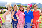 Pamela Coonan Tipperary, Joan Flahive Ballyheigue, Linda Cahillane Keel, Trish Kenny Ballyheigue and Ann Prendergast Glenbeigh all smiles at Killarney Races Ladies day on Saturday