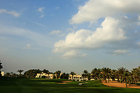 A general view of the 17th green during the first round of the Ras Al Khaimah Challenge Tour Grand Final played at Al Hamra Golf Club, Ras Al Khaimah, UAE. 31/10/2018<br />