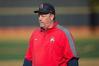 Richmond Spiders head coach Tracy Woodson during the game against the Wake Forest Demon Deacons at David F. Couch Ballpark on March 6, 2016 in Winston-Salem, North Carolina.  The Demon Deacons defeated the Spiders 17-4.  (Brian Westerholt/Four Seam Images)