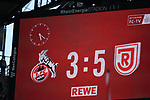 12.05.2019, RheinEnergieStadion, Koeln, GER, 2. FBL, 1.FC Koeln vs. SSV Jahn Regensburg,<br />  <br /> DFL regulations prohibit any use of photographs as image sequences and/or quasi-video<br /> <br /> im Bild / picture shows: <br /> Endstand 3:5<br /> <br /> Foto &copy; nordphoto / Meuter