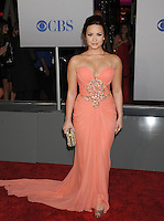 LOS ANGELES, CA - JANUARY 11: Demi Lovato arrives at the People's Choice Awards 2012 at Nokia Theatre LA Live on January 11, 2012 in Los Angeles, California.