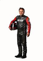 Feb 7, 2019; Pomona, CA, USA; NHRA top fuel Harley Davidson nitro motorcycle rider Doug Vancil poses for a portrait during NHRA Media Day at the NHRA Museum. Mandatory Credit: Mark J. Rebilas-USA TODAY Sports