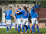St Johnstone v Ross County...17.08.13 SPFL<br /> Dave Mackay celebrates his goal<br /> Picture by Graeme Hart.<br /> Copyright Perthshire Picture Agency<br /> Tel: 01738 623350  Mobile: 07990 594431