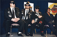 Blues Brothers6022.JPG<br /> <br /> 1997 <br /> John Goodman, James Belushi,<br /> Dan Aykroyd, James Brown 1997<br /> Photo to By John Barrett-PHOTOlink.net/MediaPunch
