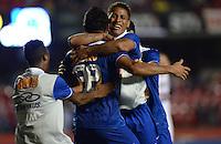 SAO PAULO SP, 20 Julho 2013 - Sao Paulo  X Cruzeiro - Lua do Cruzeirocomemora terceiro gol  durante partida contra o Sao Paulo  valida pelo campeonato brasileiro de 2013  no Estadio do Morumbi em  Sao Paulo, neste sabado, 20. (FOTO: ALAN MORICI / BRAZIL PHOTO PRESS).