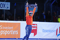 SHORTTRACK: DORDRECHT: Sportboulevard Dordrecht, 24-01-2015, ISU EK Shorttrack, Podium 1500m Men, Winnaar Sjinkie KNEGT (NED), ©foto Martin de Jong