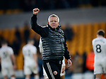 Chris Wilder manager of Sheffield Utd during the Premier League match at Molineux, Wolverhampton. Picture date: 1st December 2019. Picture credit should read: Simon Bellis/Sportimage