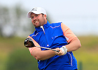 Duncan Stewert (SCO) on the 1st tee during Round 1 of the Challenge de Madrid, a Challenge  Tour event in El Encin Golf Club, Madrid on Wednesday 22nd April 2015.<br /> Picture:  Thos Caffrey / www.golffile.ie
