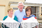 REUNION: Examining the old roll books at Killahan national school ahead of a re-union of past pupils, Mary Nolan (School Secretary), Ger Doyle (Principal), Cecelia Conway (Committee)..