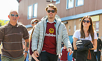 Burnley fans arrive at Turf Moor<br /> <br /> Photographer Alex Dodd/CameraSport<br /> <br /> The Premier League - Burnley v Bournemouth - Sunday 13th May 2018 - Turf Moor - Burnley<br /> <br /> World Copyright &copy; 2018 CameraSport. All rights reserved. 43 Linden Ave. Countesthorpe. Leicester. England. LE8 5PG - Tel: +44 (0) 116 277 4147 - admin@camerasport.com - www.camerasport.com