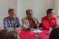 San juan del rio.,Qro. 07 de agosto del 2019.- en rueda de prensa en el comité municipal del PRI, se habló sobre la elección interna que van a tener para elegir al dirigencia nacional, menciono el equipo de Alejandro Moreno Cárdenas, que ya están preparados para el domingo 11 de agosto con 11 casillas en el municipio de san juan del rio donde sus militantes van a poder realizar el voto, donde los equipos representante de los tres candidatos ya están preparados para ese dia de la elección, y se lleve a cabo con responsabilidad