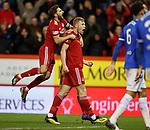 06.02.2019: Aberdeen v Rangers: Sam Cosgrove celebrates for Aberdeen