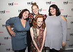 Ashlie Atkinson, Morgan Gould, Anna O'Donoghue  and Nicole Spiezio attend the reception for the 2018 Presentation of New Works by the DGF Fellows on October 15, 2018 at the Playwrights Horizons Theatre in New York City.