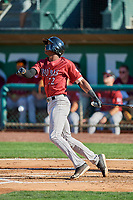 Isaiah Henry (22) of the Idaho Falls Chukars at bat against the Ogden Raptors at Lindquist Field on August 9, 2019 in Ogden, Utah. The Raptors defeated the Chukars 8-3. (Stephen Smith/Four Seam Images)