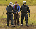 06/07/2005         Copyright Pic : James Stewart.File Name : sct_jspa16 g8 stirling.POLICE ARREST PROTESTERS AFTER THEY BLOCKED THE M9 MOTORWAY AT CAMBUSBARRON NEAR STIRLING....Payments to :.James Stewart Photo Agency 19 Carronlea Drive, Falkirk. FK2 8DN      Vat Reg No. 607 6932 25.Office     : +44 (0)1324 570906     .Mobile   : +44 (0)7721 416997.Fax         : +44 (0)1324 570906.E-mail  :  jim@jspa.co.uk.If you require further information then contact Jim Stewart on any of the numbers above.........