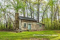 63895-15805 63895-158.02 Cabin at Log Cabin Village in spring Kinmundy IL