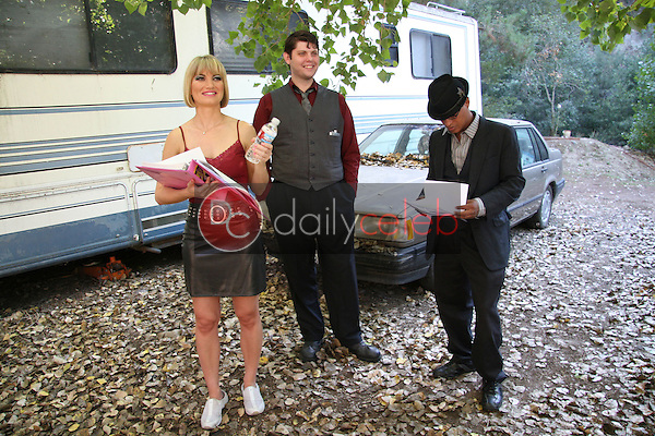 Rena Riffel, Steve Williams and Clinton Wallace<br /> on the set of the movie &quot;Showgirl,&quot; Private Location, Los Angeles, CA. 10-12-10<br /> David Edwards/DailyCeleb.Com 818-249-4998