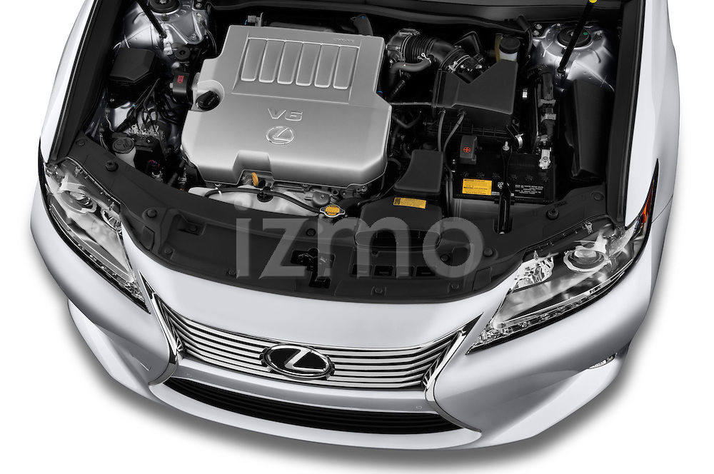 High angle engine detail of a  .2013 Lexus ES 350