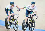Cameron Meyer and Callum Scotson of Australia compete in the Men's Madison 50 km Final during the 2017 UCI Track Cycling World Championships on 16 April 2017, in Hong Kong Velodrome, Hong Kong, China. Photo by Marcio Rodrigo Machado / Power Sport Images