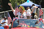 A Beauty Queen riding in the Saugerties July 4th Parade on Main Street in Saugerties, NY on Monday, July 4, 2011. Photo by Jim Peppler. Copyright © Jim Peppler 2011.