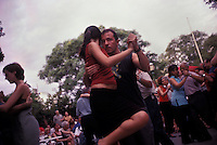 BUENOS AIRES - MARCH 2005: Couples dance the Argentinian Tango in Buenos Aires, Argentina. (photo by Landon Nordeman)