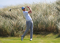 Robert Brazill (Naas) on the 6th tee during the Final of the AIG Irish Amateur Close Championship 2019 in Ballybunion Golf Club, Ballybunion, Co. Kerry on Wednesday 7th August 2019.<br /> <br /> Picture:  Thos Caffrey / www.golffile.ie<br /> <br /> All photos usage must carry mandatory copyright credit (© Golffile | Thos Caffrey)