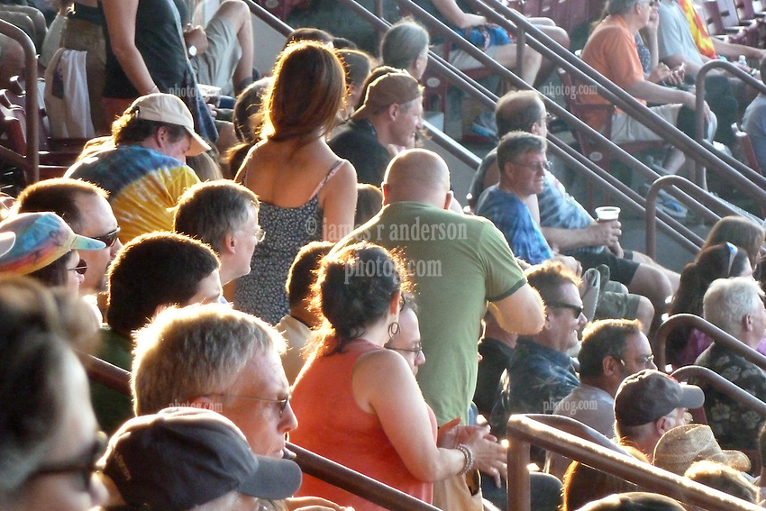The Scene in the bleachers before the Show. Furthur Band at McCoy Stadium, Pawtucket RI on 5 July 2012