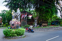 Bali, Tabanan, Kerambitan. Outside the Puri Anyar palace.