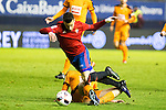 "Eibar's Gonzalo Escalante, Club Atletico Osasuna's Alx Berenguer during the match of ""Copa del Rey"" between CA Osasuna and Eibar at El Sadar Stadium in Pamplona. January 03 2017. (ALTERPHOTOS/Rodrigo Jimenez)"