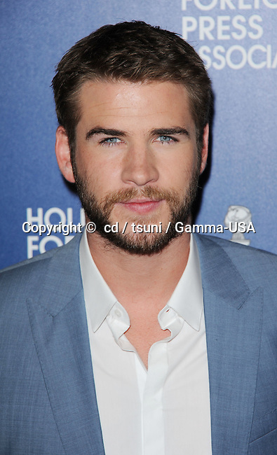 Liam Hemsworth  arriving at the  Hollywood Foreign Press Association (HFPA) celebrated their annual luncheon at the Beverly Hilton Hotel, in Beverly Hills, CA