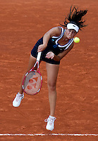 Aleksandra Wozniak (CAN) against Elena Dementieva (RUS) (5) in the second round of the women's singles. Elena Dementieva beat Aleksandra Wozniack 6-7 6-3 6-4..Tennis - French Open - Day 8 - Fri 28 May 2010 - Roland Garros - Paris - France..© FREY - AMN Images, 1st Floor, Barry House, 20-22 Worple Road, London. SW19 4DH - Tel: +44 (0) 208 947 0117 - contact@advantagemedianet.com - www.photoshelter.com/c/amnimages