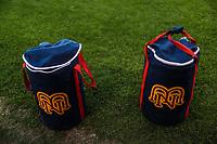 Detalle de bolsa con e logotipo de los Mayos de Navojoa N M, durante juego de beisbol de la Liga Mexicana del Pacifico temporada 2017 2018. Tercer juego de la serie de playoffs entre Mayos de Navojoa vs Naranjeros. 04Enero2018. (Foto: Luis Gutierrez /NortePhoto.com)