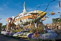 "Tournament of Roses Parade Floats City of Long Beach Rose Parade Float ""Passport to the Pacific"" submarine"