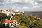 Hilltop village of Zufre, Sierra de Aracena, Huelva province, Spain