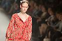 October 20, 2011: Tokyo, Japan - A model walks down the catwalk wearing SOMARTA during Mercedes-Benz Fashion Week Tokyo 2012 Spring/Summer. The Mercedes-Benz Fashion Week Tokyo runs from October 16-22. (Photo by Christopher Jue/AFLO)
